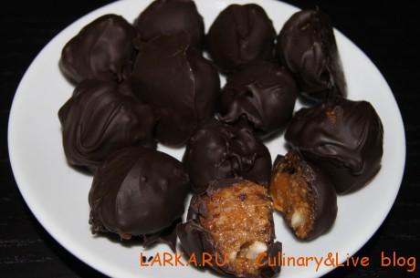 DSC06228 460x305 Конфеты из сухофруктов в шоколаде