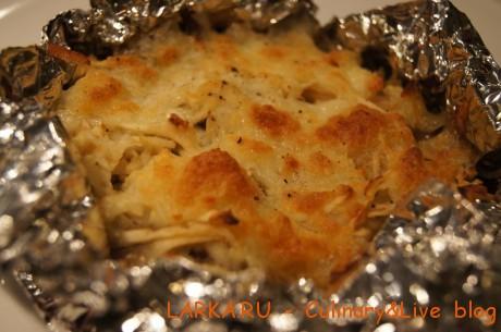 DSC06872 460x305 Куриная печень с яблоком и моцареллой