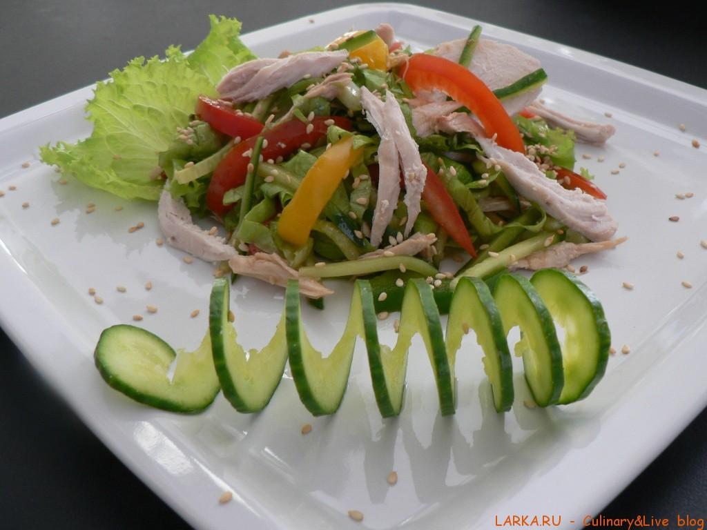 Салат курица с овощами рецепт с фото